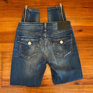True Religion 'Halle' Super Skinny Jeans Sz 25
